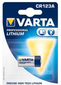 VARTA Lithium Fotobatterie 3V CR123A / CR17435 / 6205  Professional Elektronics im Blister