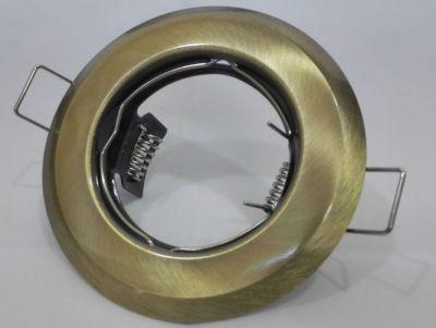 EINBAURAHMEN FÜR GU10 oder MR16 FIXED Farbe: PATINA
