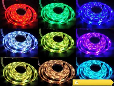 5m LED Stripe Band Strip RGB 44 Key 300 LEDs FB Dimmbar IP65 Komplett Set, EEK A