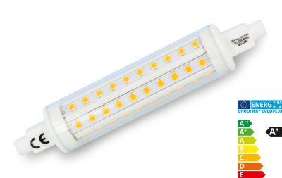 Premium R7s LED Strahler 360° 2700k, 915lm, 118mm, warmweiß - Kompakt!, EEK A+