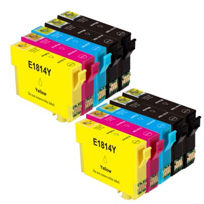10 Tintenpatronen Druckerpatronen ersetzt Epson(TM) 18XL - T816 - C13T18164010