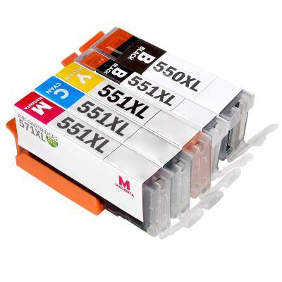 5 Tintenpatronen Druckerpatronen ersetzt Canon(TM) PGI-550 CLI-551 Multipack