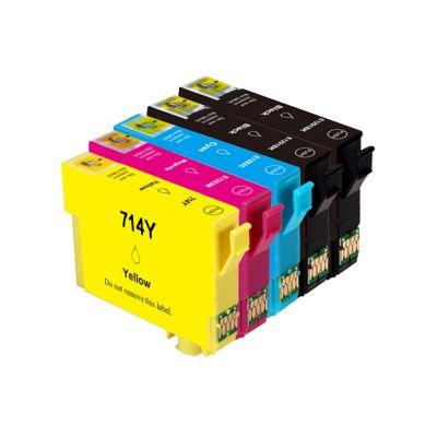 5 Tintenpatronen Druckerpatronen ersetzt Epson(TM) 711-714 - T715 - C13T07154010