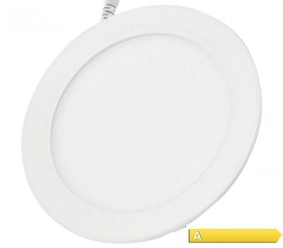 18W ULTRASLIM Premium LED Panel 2835 SMD WARMWEISS rund Einbaustrahler