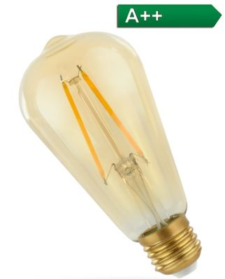 GOLD Retro Shine LED Leuchtmittel Klassik - 2W - 240 Lumen - Warmweiss- Ra >80