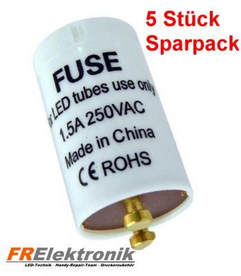 5er Pack Premium LED Starter für LED Röhre T8 - Dummy-Starter - LED Starter