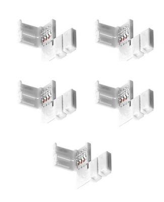 5 Stück LED RGB Strip Eckverbinder Schnellverbinder L Verbinder