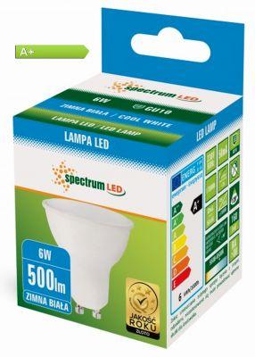 GU10 - 6 Watt 230 Volt Strahler - KALTWEISS - 500 Lumen Power -