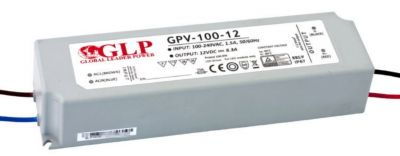 LED Trafo SMD Netzteil bis 100W - 8,3A - 12V +wasserfest+ GLP GPV-100-12 mit TÜV
