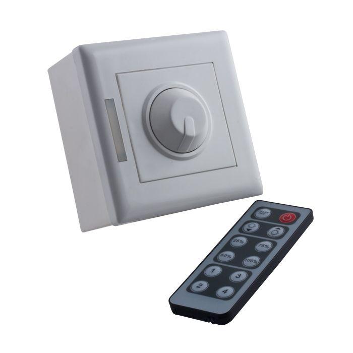 aufputz dimmer f r led leuchtmittel inkl ir fern. Black Bedroom Furniture Sets. Home Design Ideas