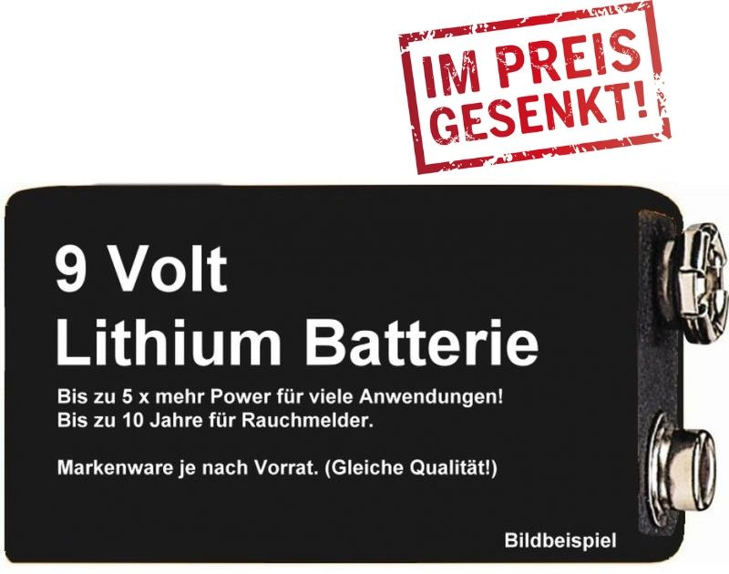 lithium 9v block batterie frelektronik. Black Bedroom Furniture Sets. Home Design Ideas