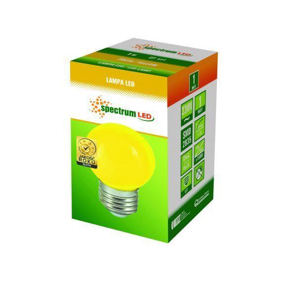 Farbige LED E27 1W Lampe Glühbirne Lichterketten Gelb