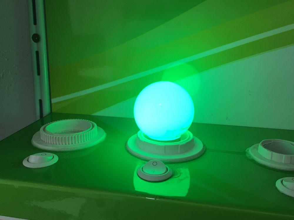 farbige led e27 1w lampe gl hbirne lichterketten rgb mi frelektronik. Black Bedroom Furniture Sets. Home Design Ideas