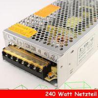 240 Watt 20A Trafo Netzteil Netzadapter LED SMD RGB Stripe Streifen