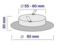 EINBAURAHMEN FÜR GU10 oder MR16 FIXED Farbe: ANTIK