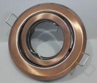 EINBAURAHMEN Schwenkbar für GU10 oder MR16 - Farbe: ANTIK