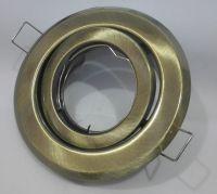EINBAURAHMEN Schwenkbar für GU10 oder MR16 - Farbe: Patina