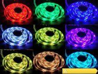 5m LED Stripe Band Strip RGB 44 Key 300 LEDs FB Dimmbar IP65 Komplett Set