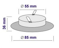 Einbaustrahler IP65 Feuchtraum Wasserfest Spot für MR16/GU10 CHROME