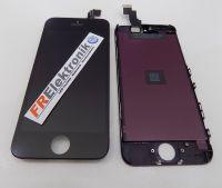 FRElektronik HQ Display LCD für iPhone 5C mit RETINA Glas Scheibe Komplett Front Schwarz AAA