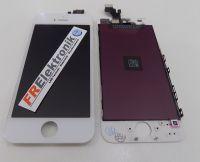 FRElektronik HQ Display LCD für iPhone 5 mit RETINA Glas Scheibe Front Weiss AAA