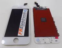 FRElektronik HQ Display LCD für iPhone 5S mit RETINA Glas Scheibe Komplett Front WEISS AAA