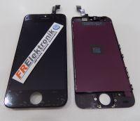 FRElektronik HQ Display LCD für iPhone 5S mit RETINA Glas Scheibe Front Schwarz AAA