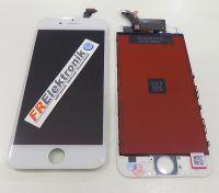 FRElektronik HQ Display LCD für iPhone 6 mit RETINA Glas Scheibe Komplett Front WEISS AAA