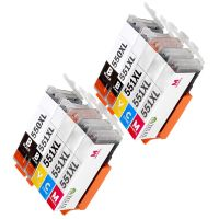 10 Tintenpatronen Druckerpatronen ersetzt Canon(TM) PGI-550 CLI-551 Multipack