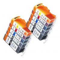 10 Tintenpatronen Druckerpatronen ersetzt Canon(TM) PGI-520 CLI-521 Multipack