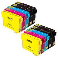 10 Tintenpatronen Druckerpatronen ersetzt Epson(TM) 1291-1294 / T1295 / C13T12954020