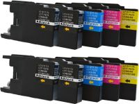 10 Tintenpatronen Druckerpatronen ersetzt Brother LC-1220 - 1240 - 1280