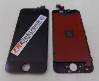 FRElektronik HQ Display LCD für iPhone SE mit RETINA Glas Scheibe Front Schwarz AAA