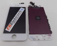 FRElektronik Premium Display LCD für iPhone SE mit RETINA Glas Scheibe Front Weiss