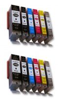 12 Tintenpatronen für CANON PIXMA MG 7750 / MG 7751 / MG 7752 / MG 7753 mit Grau