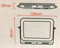 10W LED Mini-SLIM-Fluter Strahler 700 Lumen - 4000K - Tageslicht/Neutralweiss