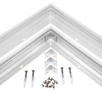 Premium LED-Panel Rahmen in 120x30cm Decken.- Wandbefestigung Einbau Weiß ALU
