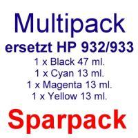 Druckerpatronen Sparpaket ersetzt HP 932/933 XL (4 kompatible Druckerpatronen)